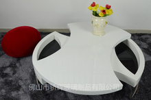 fancy living room round table two layers sviwel coffee table