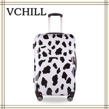 Hard Shell ABS Cute Animal Cow Print Luggage