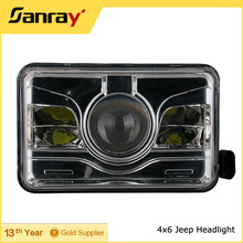 "DOT 4X6 inch Jeep Led Headlight for jeep wrangler H4 H13 4x4 led headlight 7"" for offroad Auto Parts"