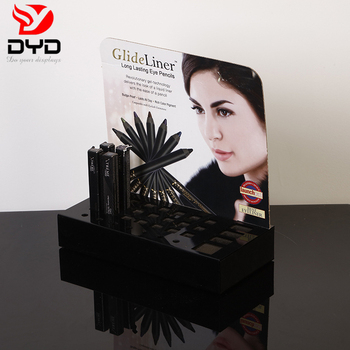 Custom Shopping Mall black acrylic mascara display stand