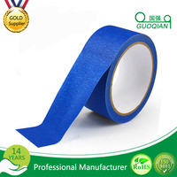 Easy Release Rubber Glue Blue Color Paper Automotive /Spray Painting Adhesive Masking Tape