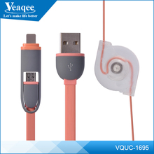 Veaqee 2 in 1 USB Data Cable for Iphone and Android USB Data Cable Provider