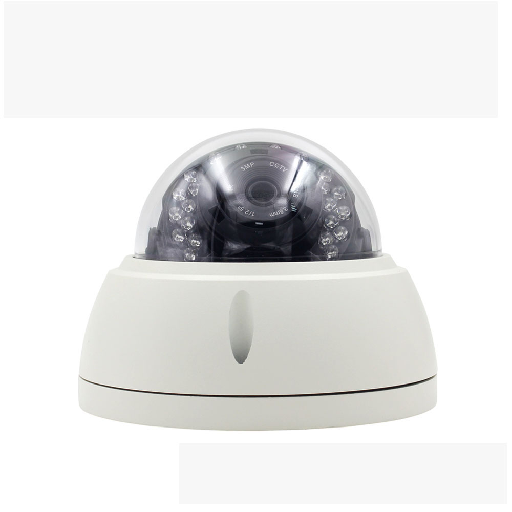 Vandal-proof cctv security system network 5mp 8mp dome indoor home ip p2p camera