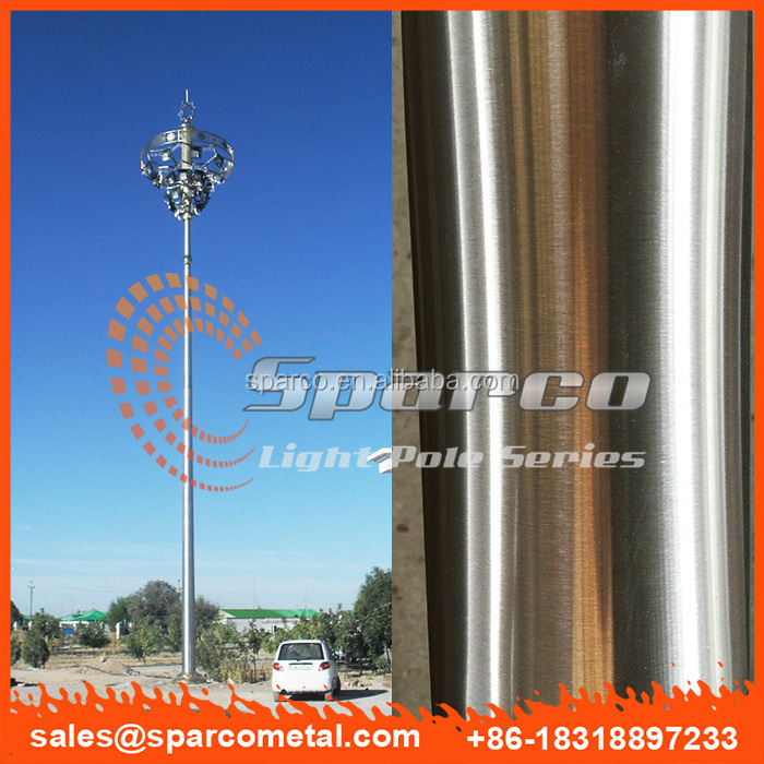 custom round conical stainless steel ss304 high pole lamp