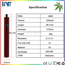 Amazing design Hot USA ego/510 thread o pen vape vaporizer pen colorful rechargeable battery evod e cigarette battery