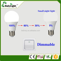 New electrical products led light bulb A60 E27 6W dimmable led with CE/Rohs
