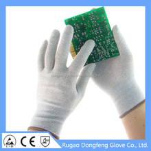 Hot sale CE EN388 breathable esd gloves work gloves for lights part handling/mobile phones/electronic goods assembly