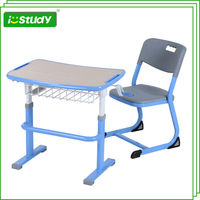 Reading and writing active school desk and chair