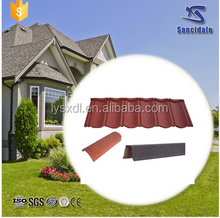 durable and sun stone coated metal roof tile
