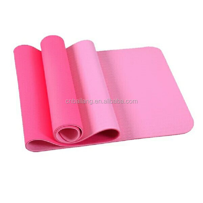 Gym Folding Exercise Aerobics Blue Stretching Yoga Mat