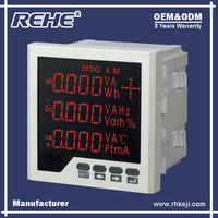 Free Sample Available Digital Panel Three Phase Digital Multimeter with RS-485