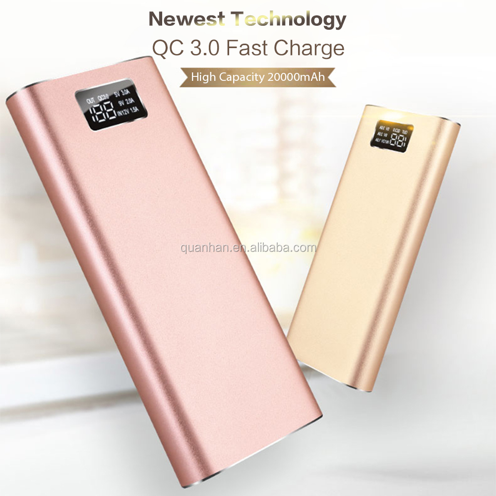 Newest top selling super slim power bank 20000 mah for business gifts