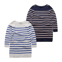 wholesale New 2016 European and American fashion children's long-sleeved knitted stripe swearter hoodies