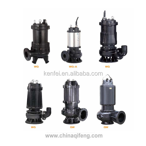 Non clog submersible pump 3 hp water pump