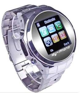 Stainless Steel Watch with Touch Screen Mobile Phone