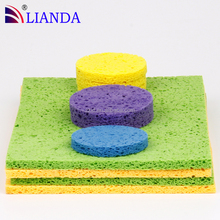 100% Natural Biodegradable Cellulose Cleaning Sponge Scourer For Kitchen