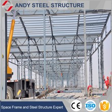 prefabricated large span steel structure warehouse for portable aircraft hangar