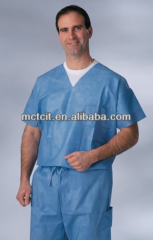 disposable medical nursing scrub suits