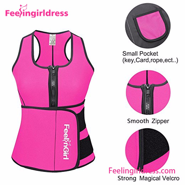 Slimming Vest Pink Neoprene Body Shaper for Women India