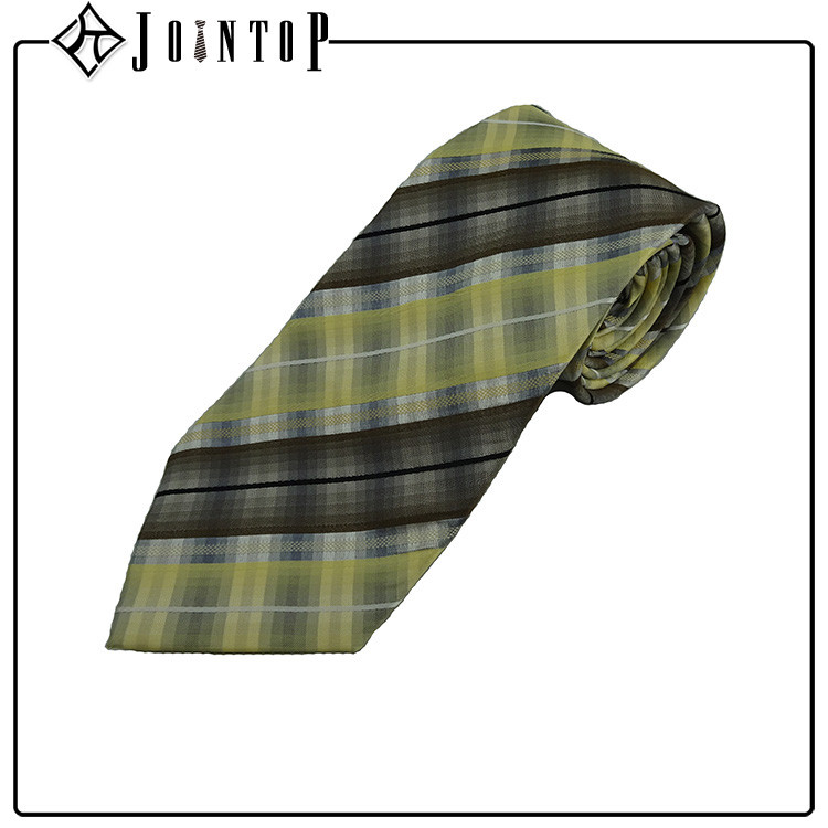 Sale high quality plaid silk tie and handkerchief