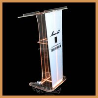 YZ-0055 Novel design clear acrylic podium pulpit lectern