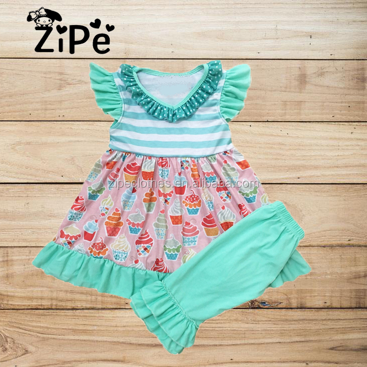 Kids Butter Cups Ruffle Shorts Outfits Wholesale Children's Icing Boutique Outfits