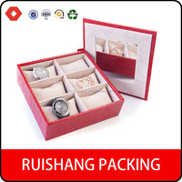 Custom made fashion luxury packaging paper watch boxes wholesale with pillows