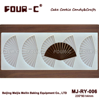 chocolate sheet mold cake decorating mold dessert decor Folding fan