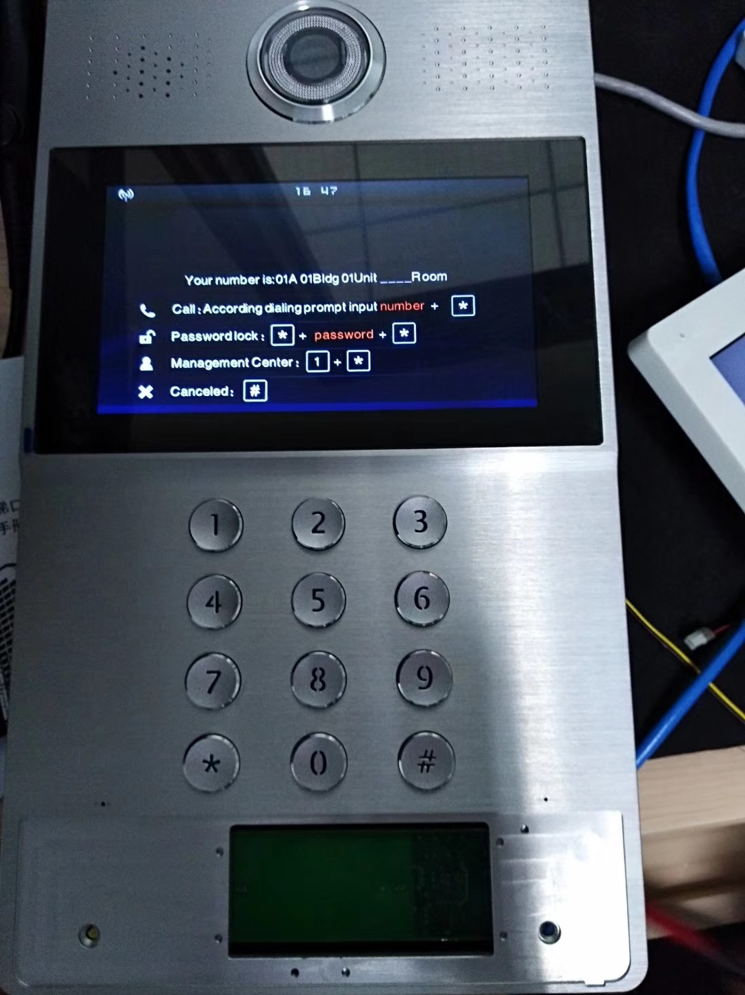 Manufacturer 110-240V Power and 65 Water proof IP rate Apartment video door phone intercom system