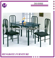 Metal dinette sets &DS-03502/Metal dining table and chairs/antique dining room furniture