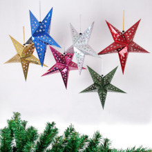 Wholesale leg light paper star shape christmas hanging ornament suppliers