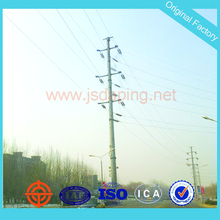 electric steel transmission line utility pole