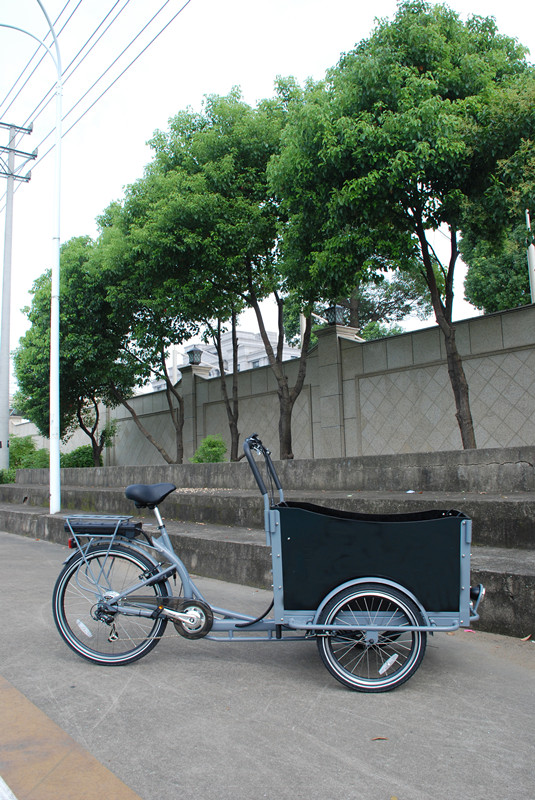 "Adult electrial scooter with 3 wheel bike 24"" 6 shiman 6 speeds pedal cargo bike bicycle/bisiklet/tricycle trike UB 9019E"