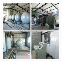 High capacity continuous type black oil to yellow diesel machine/waste oil recycling plant to diesel petrol