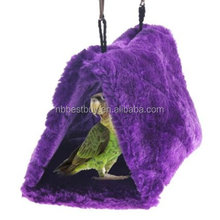 Bird Parrot Budgie Nest Shed Fluffy Warm Suspended Hut Toybird-nests