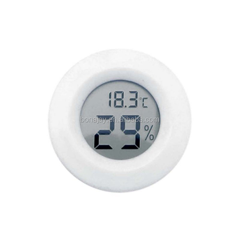 Mini LCD Display Round Digital Thermometer Temperature Humidity Meter Hygrometer Fridge Freezer Tester Detector High quality
