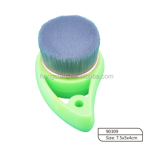 Customize Beauty Face Cleaning Brushes Plastic Handle Comma Shape Facial Cleansing Brush