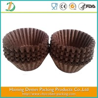 small chocolate paper tray, chocolate cup brown ice cream paper tray make of glassine paper
