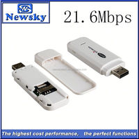 21.6Mbps hsdpa wireless 3g data card 7.2mbps support sms box/ussd function