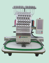 Made in China single head 12 needles computerized embroidery machine for flat bed, cap, finishsed garments