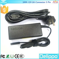 Delippo Cheap and High Quality 2 Years Warranty Chargeur 12V DC 2A For Microsoft Surface