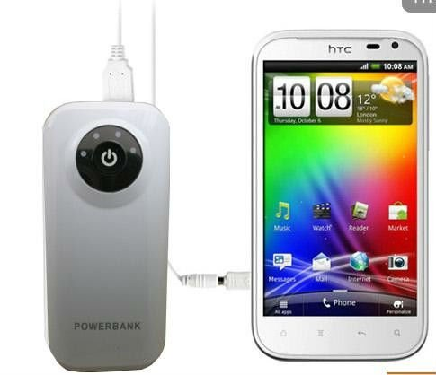 Portable power bank 5200 mAh for iPhone/Galaxy tab/iPad/Blackberry/SonyEricsson/Samsung/Nokia/PSP/GPS