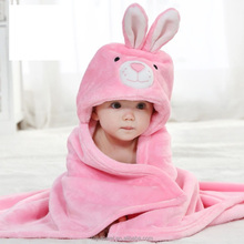 baby hooded towels in terry cotton material