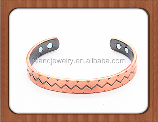 Plain Magnetic Changeable Copper bangle, Arthritis Pain Relief bracelet for Men or Women. Copper Therapy Magnet Jewelry