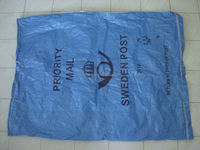 laminated white grey film postal mailing plastic bag,pp woven bag with laminated for postal/mailing