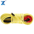 12mm synthetic winch ropes with hook for 12000lb winch