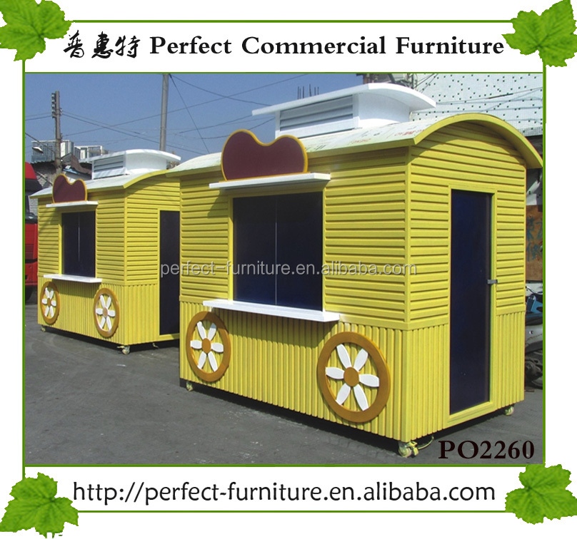 Easy quick assembly custom outdoor fast food tiny container prefab kiosk houses