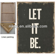 LET IT BE LINEN WALL PICTURES FOR LIVING ROOM, WALL HANGING PICTURES WHOLESALE