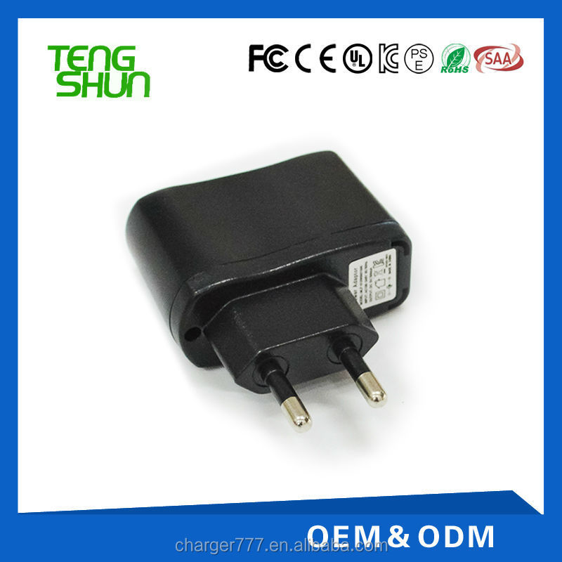 hotsales wall/travel charger 5v1a power adapter
