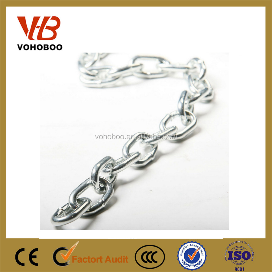 China manufacture twisted galvanized link chain long